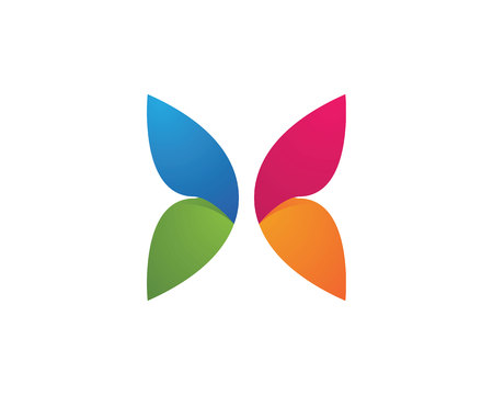 A Butterfly Logo Template Illustration