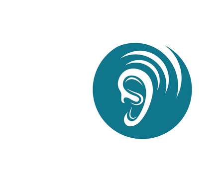 hearing aid: Hearing Logo Template vector icon design