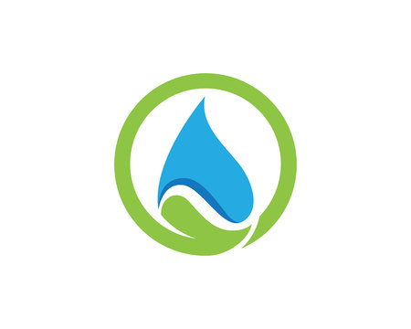 water drop Logo Template vector illustration design  イラスト・ベクター素材