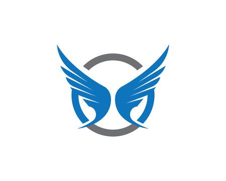 Wing Logo Template vector icon design