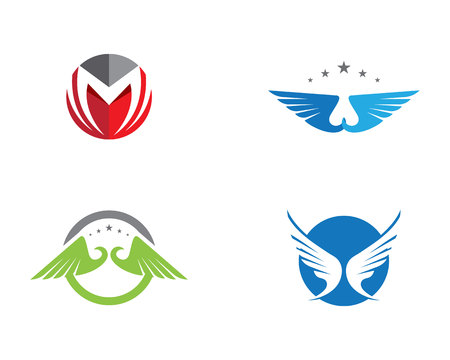business flying: Falcon Wing Logo Template vector icon design