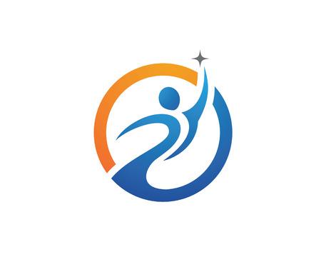 健康的な生活のロゴ  イラスト・ベクター素材
