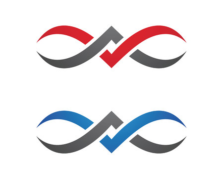 v cycle: Business corporate abstract unity vector logo design template