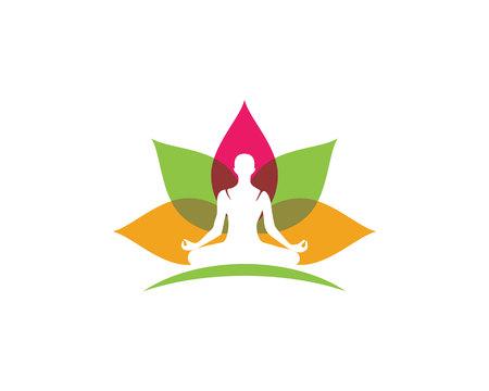 Beauty Lotus Logo Template Stock Vector - 75874663
