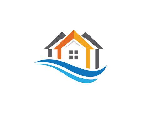 home buyer: Property Logo Template Illustration