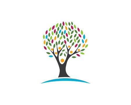 globe logo: Eco Tree Leaf Logo Template Illustration