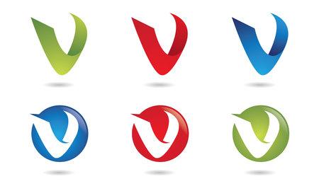 V Letter Logo.