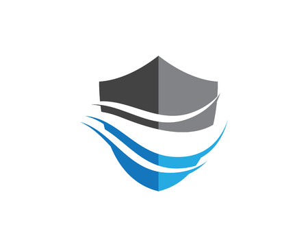 Water Wave Logo Template. 矢量图像