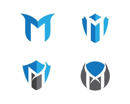 M Letter Logo Banco de Imagens - 75209516
