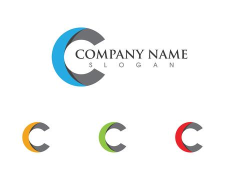 C Letra Logotipo de plantilla de diseño de iconos vectoriales