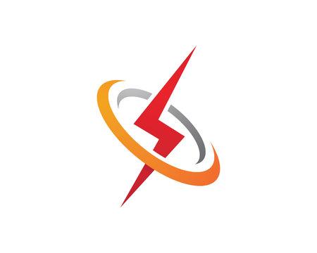 Rayo Logotipo plantilla ilustración vectorial icono de diseño