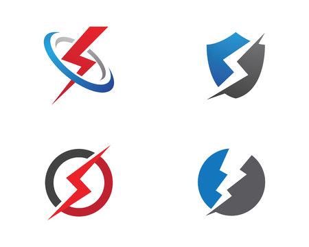 Lightning Logo Template vector icon illustration design Logo