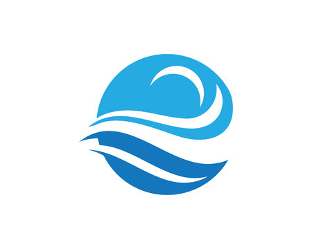 Water Wave Logo Template Illustration