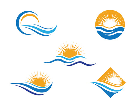diving board: Water Wave Logo Template Illustration