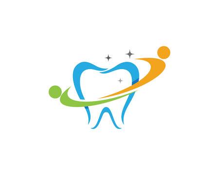Smile Dental logo Template vector illustration icon design.