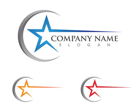 Star Logo Template vector icon illustration design Stock Illustratie
