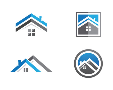 Property Logo Template Иллюстрация
