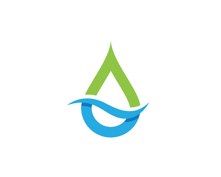 white wave: Water drop Logo Template vector illustration design