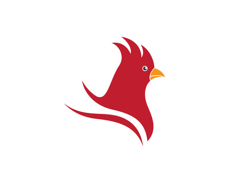 chinese new year card: Rooster logo template
