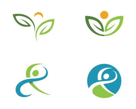 Set of healthy life logo