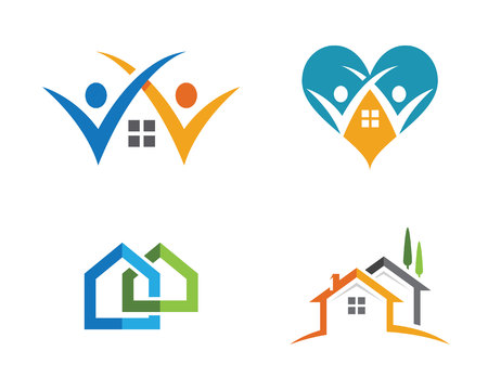 investment concept: Property Logo Template Illustration