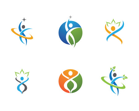 Healthy Life icon design.