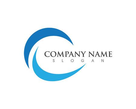 C Lettre Logo Template Icône de vecteur