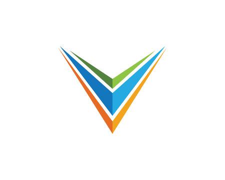 V Letter Logo Ilustrace