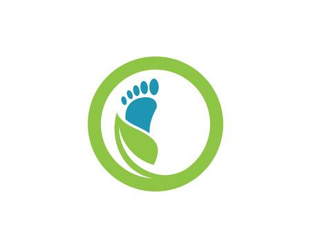 足のロゴのテンプレート
