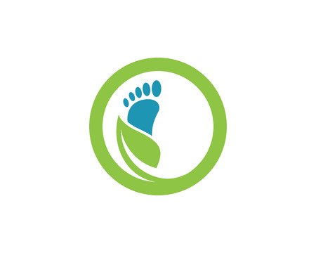 Foot Logo Template Imagens - 77696771