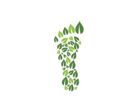 plantilla de logotipo de pie