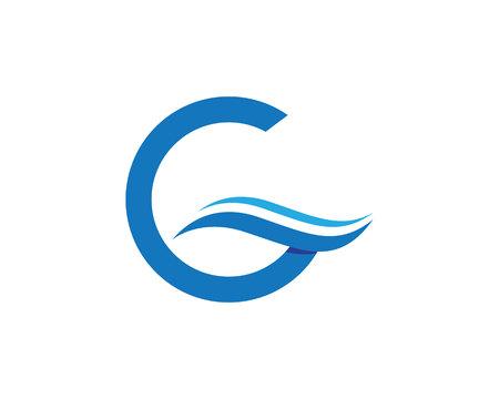 G letter wave Logo Template vector illustration