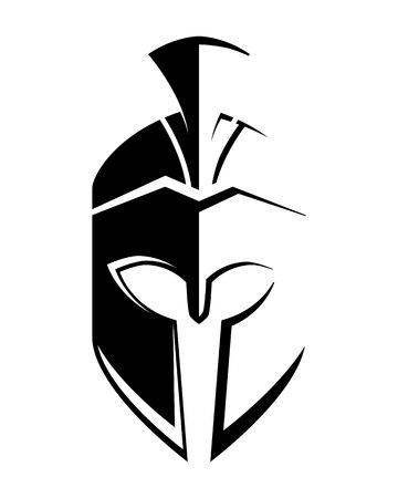 Vector sign. Spartan helmet logo template vector icon Vettoriali