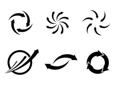 Arrows vector illustration icon Logo Template design.
