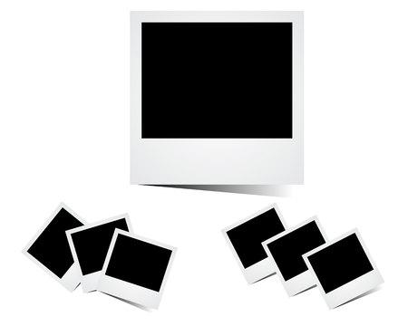 Photo frame icon in a flat design in black color Illustration