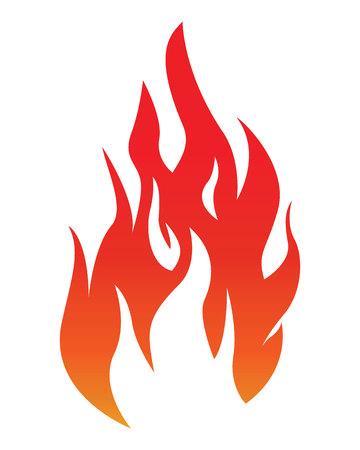 Fire flame vector illustration. Illustration