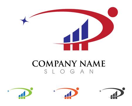 stylized banking: Business Finance Logo vector illustration.