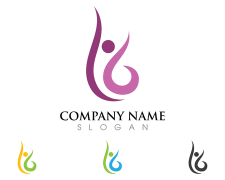 people logo template vector illustration.