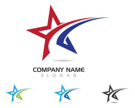 Star Logo Template vector illustration. Logó