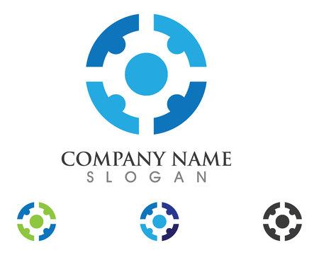 Les soins communautaires Logo Banque d'images - 85384486