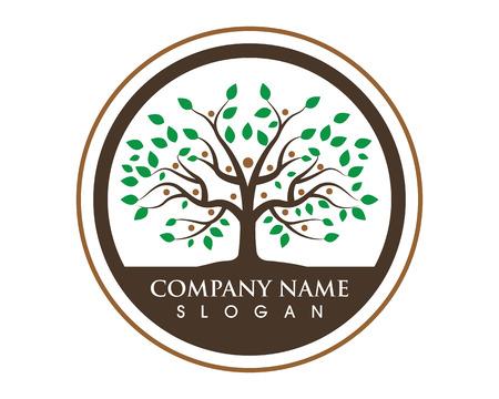Baum-Symbol Logo-Vorlage Vektor-Illustration