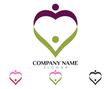 Les soins communautaires Logo Banque d'images - 85325522