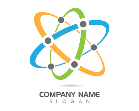 Soins communautaires Logo molécules slogan Banque d'images - 85325526