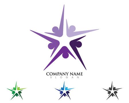 Community care Logo star Illustration
