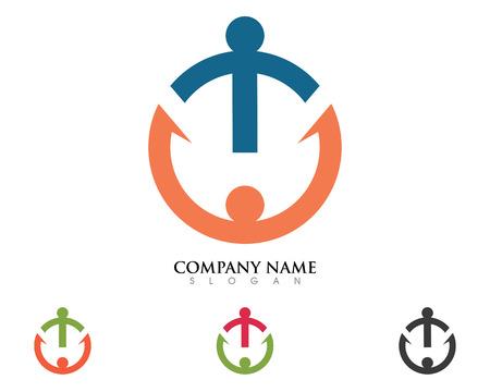 Logo de soins communautaires aide main Banque d'images - 85325529