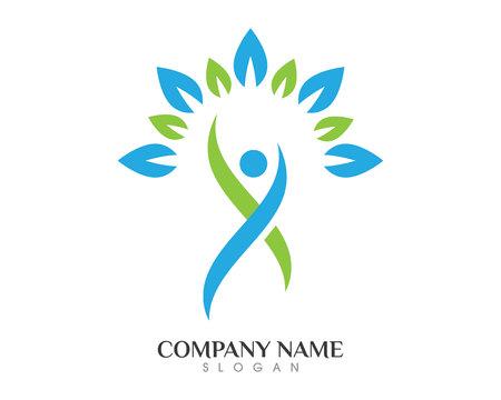 People growth  logo template Illustration