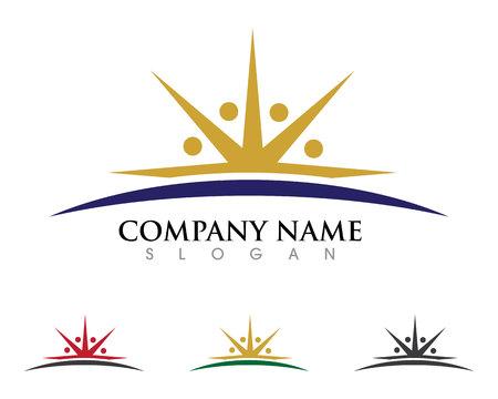 Les soins communautaires Logo Banque d'images - 85325549