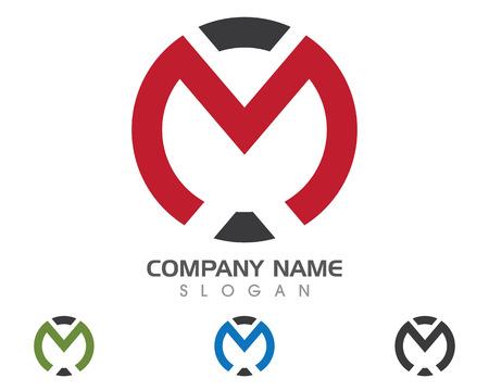 M 文字ロゴのベクター イラストです。