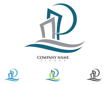 Property Logo Template Vettoriali