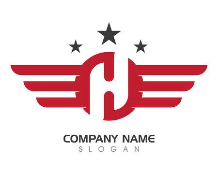 Simbolo del logo Wing per un designer professionista